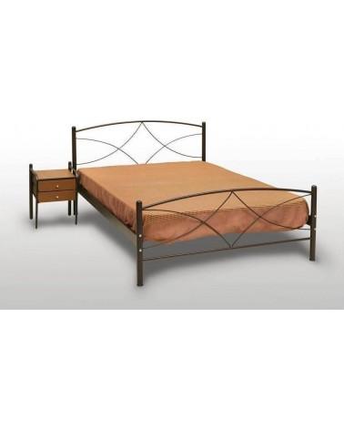 Άνδρος  Κρεβάτι διπλό Μεταλλικό 140Χ190