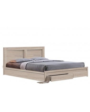 Κρεβάτι Sonoma με συρτάρια Λευκό 160X200