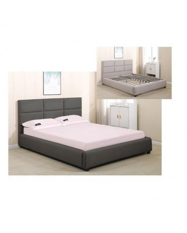 Maxim Κρεβάτι Διπλό Ύφασμα Ανθρακί για στρώμα  160x200cm