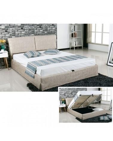 Κρεβάτι TELCO με αποθ. χώρο Μπεζ για στρώμα  160Χ200