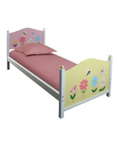 Κρεβάτι ξύλινο Ροζ Λουλούδι 198x90x93 Μονό Ροζ 3-50-934-0022