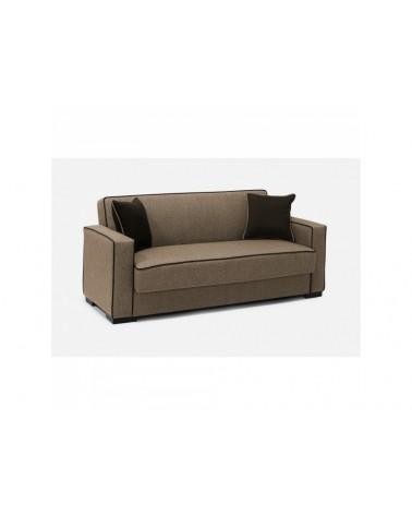 Καναπές κρεβάτι τριθέσιος με αποθηκευτικό χώρο 220x82εκ. GLORIA Μπεζ Σκούρο