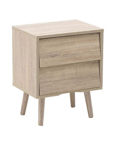 Inart κομοδίνο ξύλινο 39Χ29Χ48 6-50-003-0006