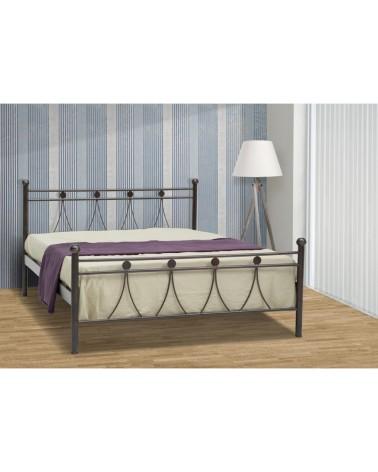 Λάμδα Μεταλλικό κρεβάτι για στρώμα 90x200